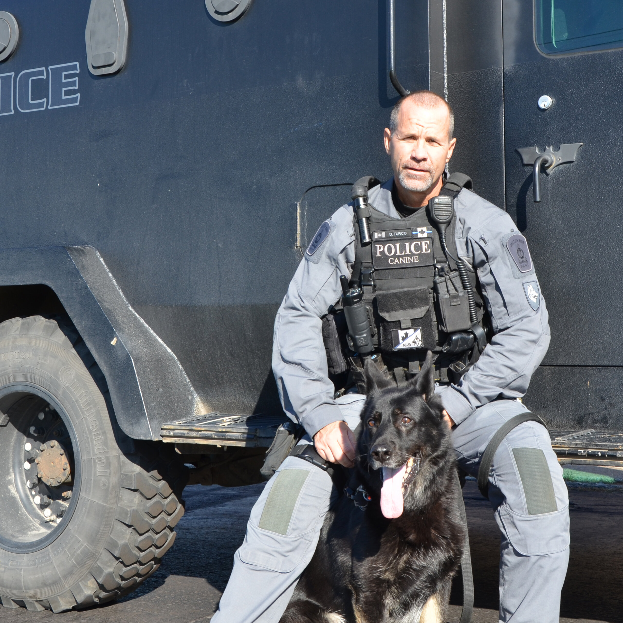 Cst. Dan Turco with PSD Justice